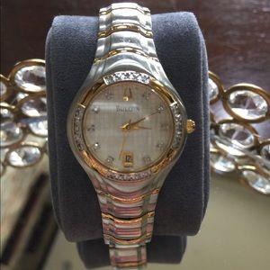 BULOVA - Ladies Diamond Two-Tone Watch